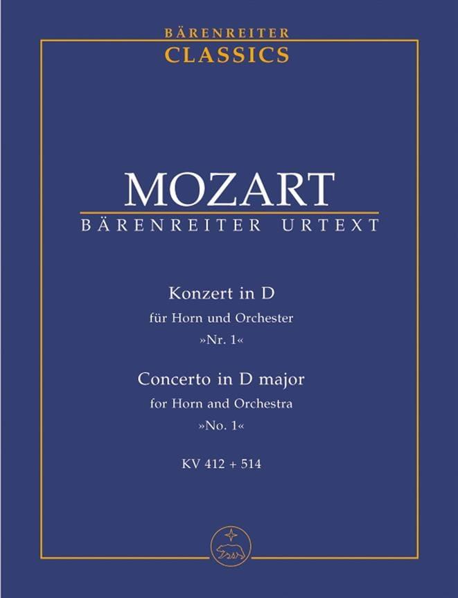 Konzert D-Dur, KV 412 + 514 - MOZART - Partition - laflutedepan.com