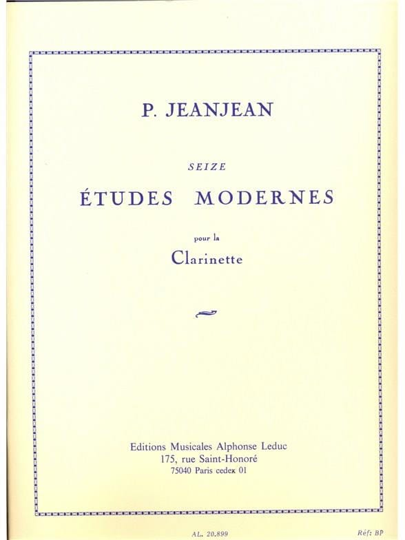 Paul Jeanjean - 16 Modern Studies - Partition - di-arezzo.co.uk