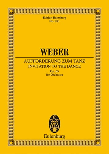 Carl Maria von Weber - Aufforderung zum Tanz - Partitur - Partition - di-arezzo.co.uk