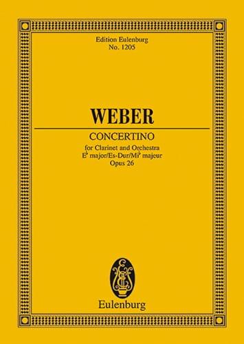 Concertino für Klarinette Es-Dur op. 26 - Partitur - laflutedepan.com