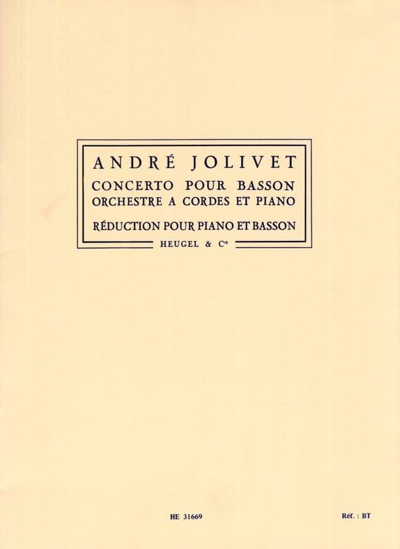Concerto pour basson - André Jolivet - Partition - laflutedepan.com