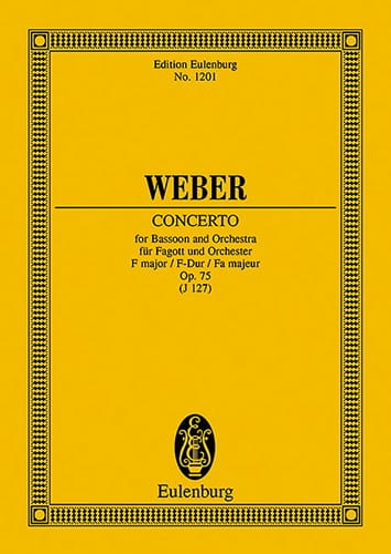 Carl Maria von Weber - Fagott-Konzert F-Dur - Partition - di-arezzo.co.uk