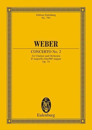 Carl Maria von Weber - Klarinetten-Konzert Nr. 2 Es-Dur - Partition - di-arezzo.com
