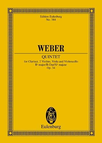 Carl Maria von Weber - Quintet in Bb Major Op. 34 - Partition - di-arezzo.co.uk