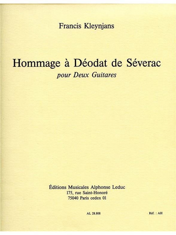 Francis Kleynjans - Homenaje a Déodat de Séverac - Partition - di-arezzo.es