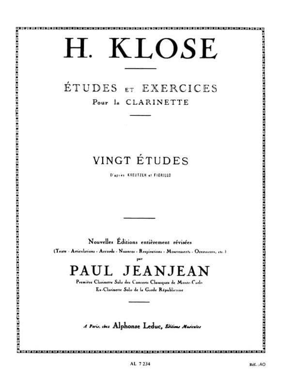 Hyacinthe Klosé - 20 Studies after Kreutzer and Fiorillo - Partition - di-arezzo.com