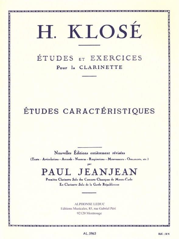 Hyacinthe Klosé - Characteristic studies - Partition - di-arezzo.com