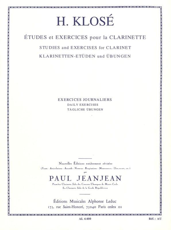 Exercices journaliers - Hyacinthe Klosé - Partition - laflutedepan.com