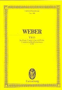 Carl Maria von Weber - Trio G-Moll, Opus 63 - Partition - di-arezzo.co.uk