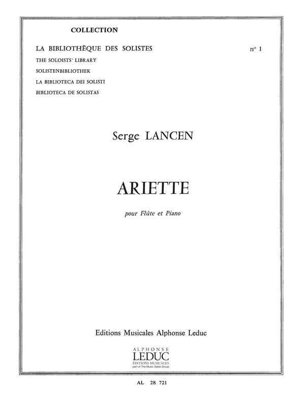 Serge Lancen - Ariette - Flauta y piano - Partition - di-arezzo.es