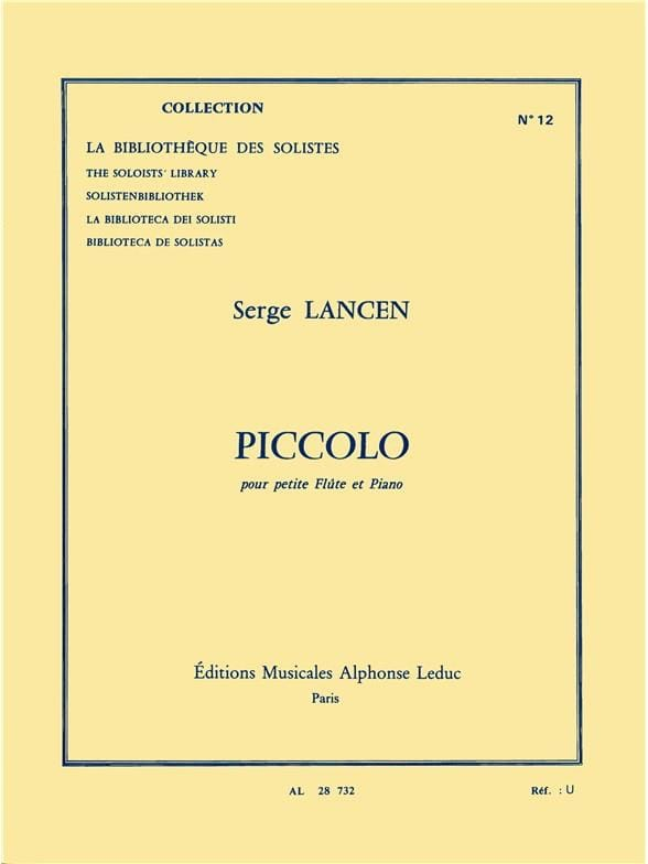 Serge Lancen - flautín - Partition - di-arezzo.es