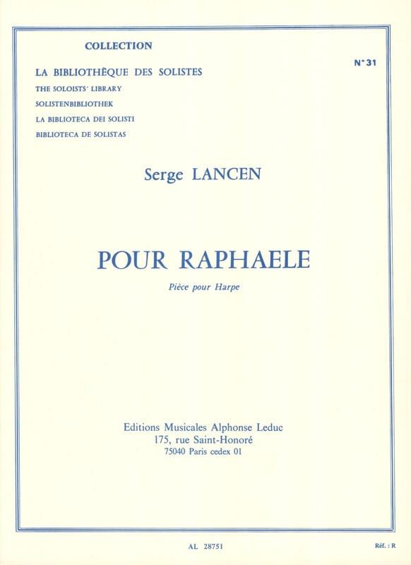 Serge Lancen - For Raphaele - Partition - di-arezzo.com