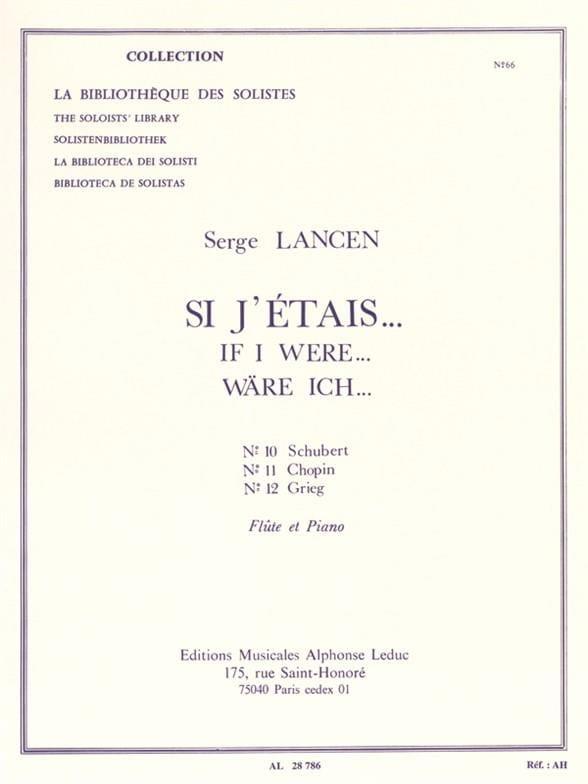 Serge Lancen - Si yo fuera ... n ° 10, 11, 12 - Flauta - Partition - di-arezzo.es