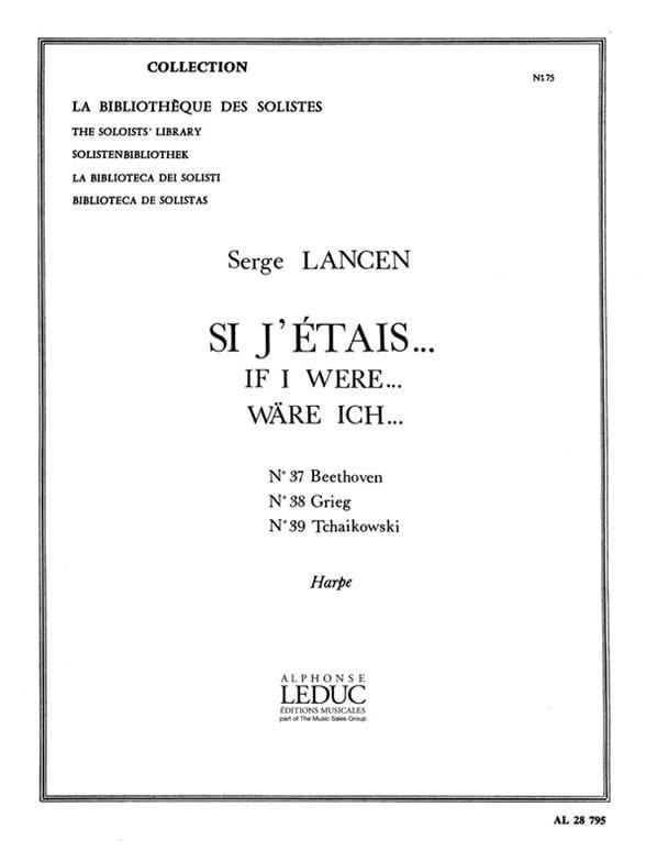 Si J'etais N° 37, 38, 39 - Serge Lancen - Partition - laflutedepan.com