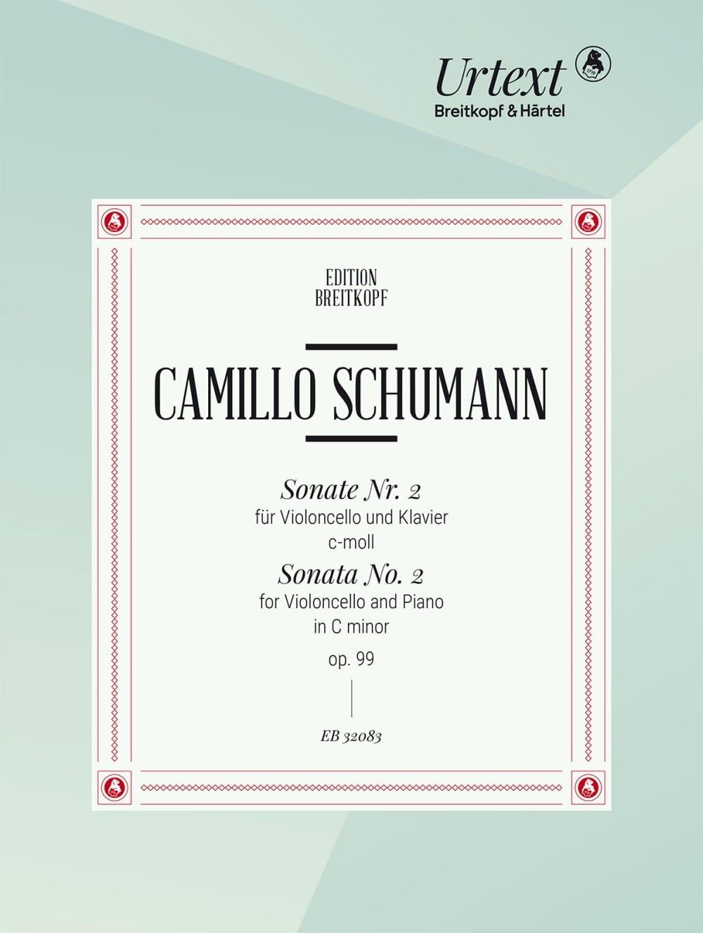 Camillo Schumann - Sonata No. 2 Opus 99 in C minor - Urtext Edition - Partition - di-arezzo.co.uk