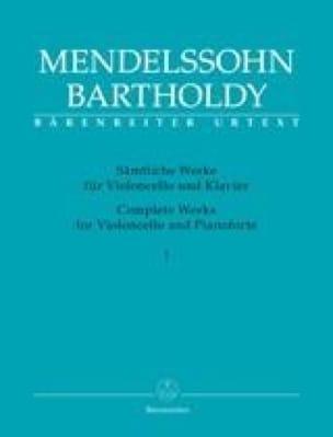MENDELSSOHN - Obras completas para violoncello y pianoforte - Volumen 1 Edición Urtext - Partition - di-arezzo.es