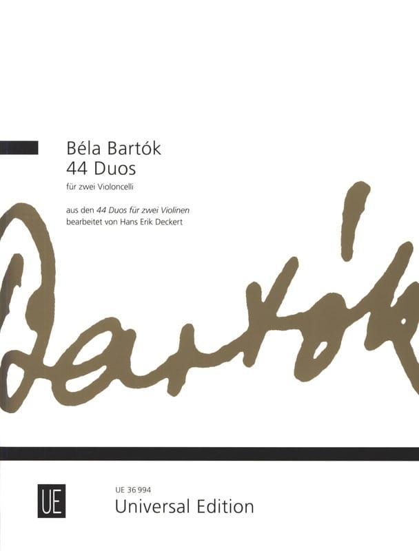 BARTOK - 44 dúos - 2 violoncelos - Partition - di-arezzo.es