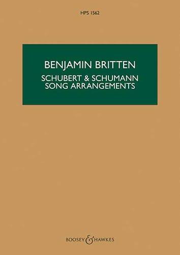 Schubert & Schumann Song Arrangements - BRITTEN - laflutedepan.com