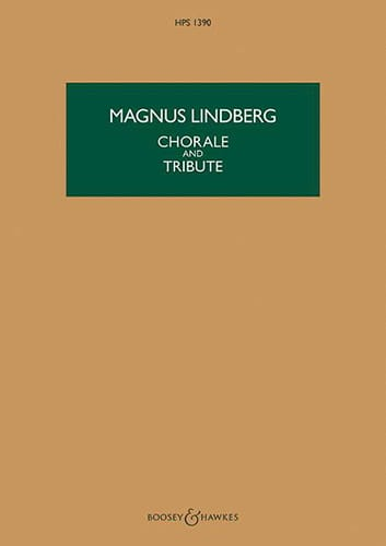 Chorale and Tribute - Magnus Lindberg - Partition - laflutedepan.com