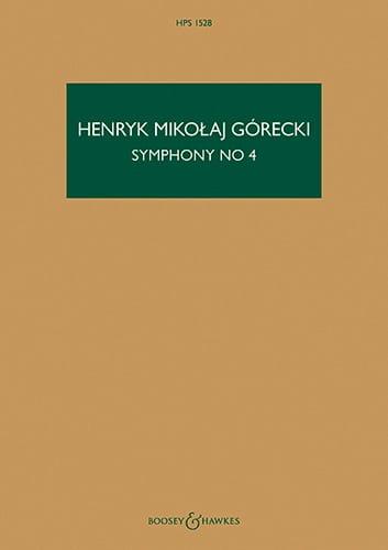 Symphonie n° 4 - Henryk Mikolaj Gorecki - Partition - laflutedepan.com