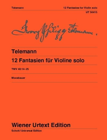 TELEMANN - 12 Fantasy for solo violin - Partition - di-arezzo.co.uk