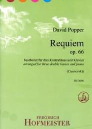David Popper - Requiem - 3 Double Bass and Piano - Partition - di-arezzo.co.uk