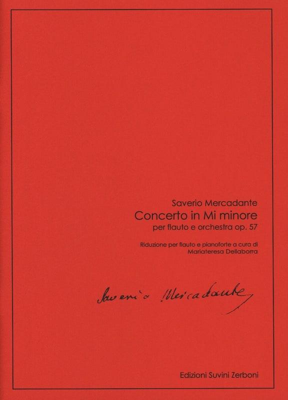 Saverio Mercadante - Concerto in E minor - Flute and Piano - Partition - di-arezzo.co.uk