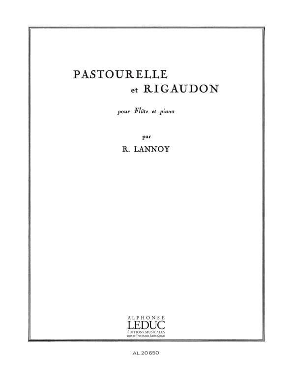 Pastourelle et Rigaudon - Robert Lannoy - Partition - laflutedepan.com