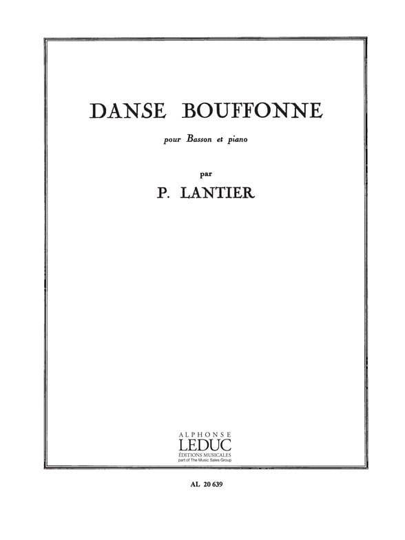 Danse bouffonne - Pierre Lantier - Partition - laflutedepan.com