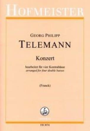 Concerto - 4 Contrebasses - TELEMANN - Partition - laflutedepan.com