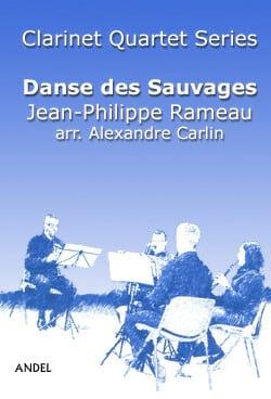 Danse des Sauvages - 4 Clarinettes - RAMEAU - laflutedepan.com