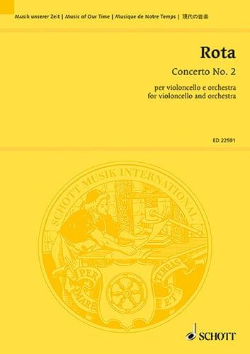 Concerto n° 2 - Conducteur - ROTA - Partition - laflutedepan.com