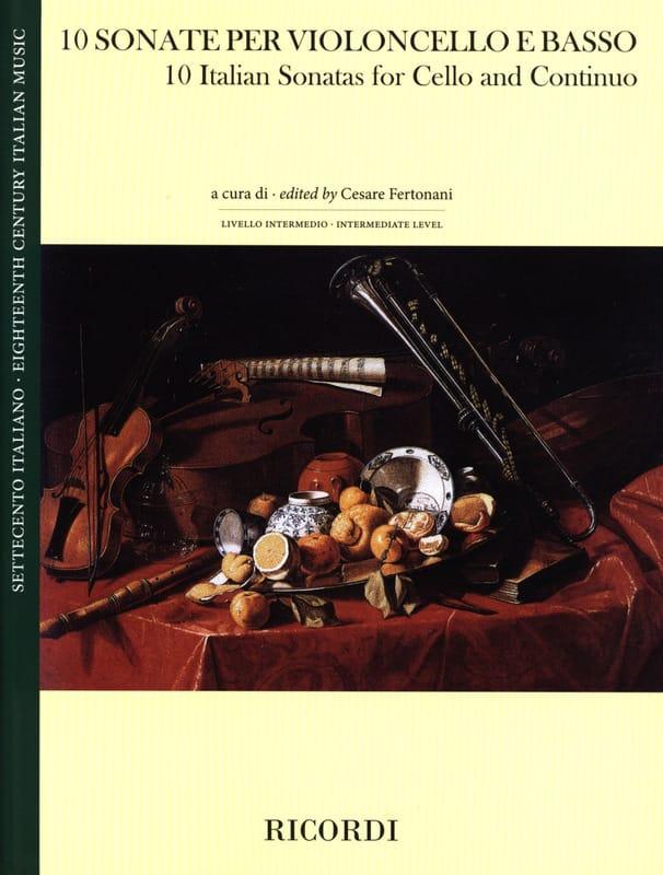 10 Sonates Italiennes - Violoncelle et Basse - laflutedepan.com