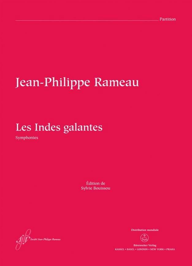 Jean-Philippe Rameau - Les Indes Galantes - Symphonies - Partition - di-arezzo.fr