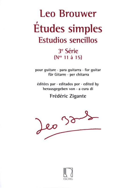 Leo Brouwer - Single studies - 3rd series - Partition - di-arezzo.co.uk