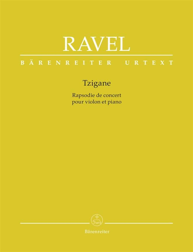 Maurice Ravel - Gypsy - Violin and piano - Partition - di-arezzo.co.uk