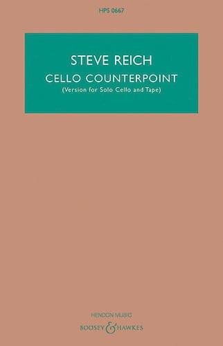 Cello Counterpoint - Steve Reich - Partition - laflutedepan.com