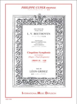 BEETHOVEN - Symphony No. 5 excerpts - 2 Clarinets - Partition - di-arezzo.co.uk