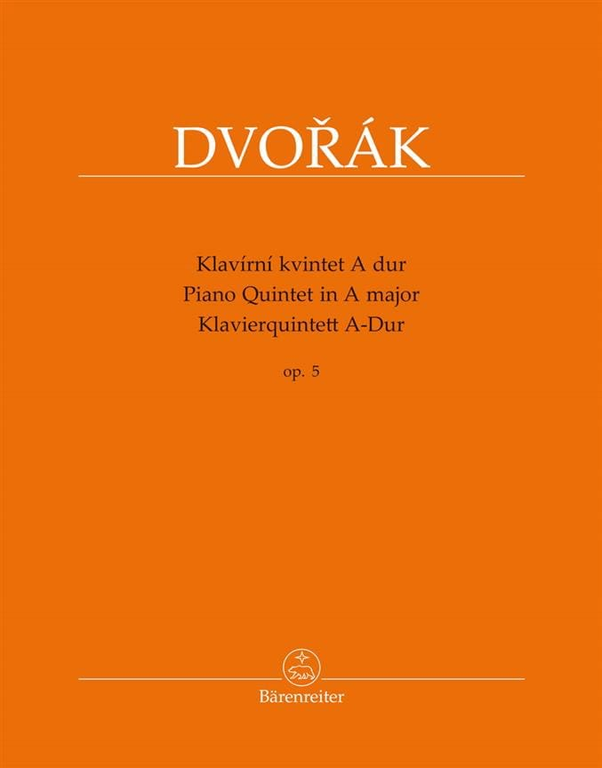 DVORAK - Quintet for Piano and Strings, op. 5 - Partition - di-arezzo.com