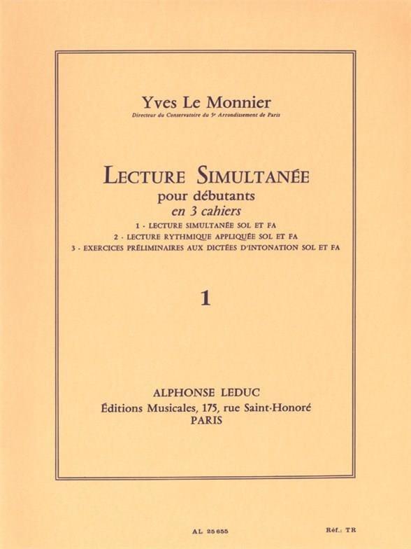 Lecture simultanée - Volume 1 - Monnier Yves Le - laflutedepan.com