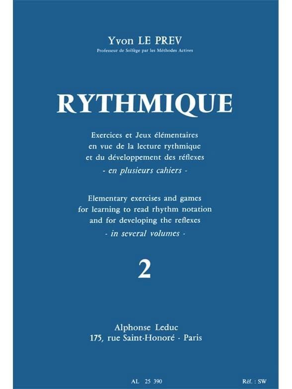 Rythmique - Volume 2 - Prev Yvon Le - Partition - laflutedepan.com