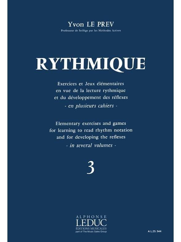 Rythmique - Volume 3 - Prev Yvon Le - Partition - laflutedepan.com