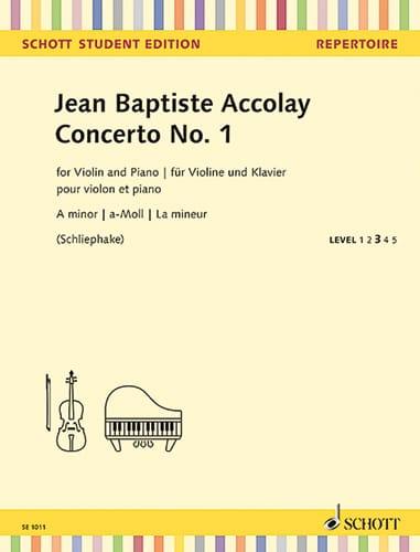 Jean-Baptiste ACCOLAY - Concerto N ° 1 - Partition - di-arezzo.co.uk