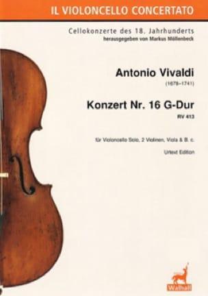 Concerto n° 16, RV 413 - VIVALDI - Partition - laflutedepan.com