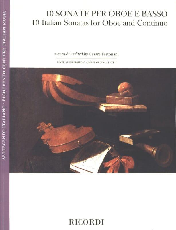 10 Sonates Italiennes - Hautbois et BC - laflutedepan.com