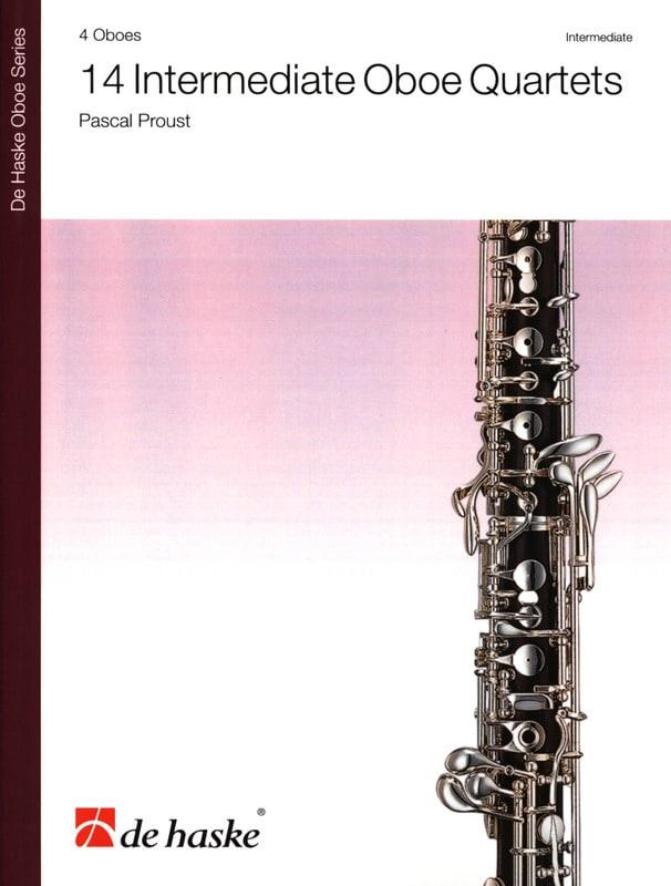 Pascal Proust - 14 Intermediate Oboe Quartets - Partition - di-arezzo.co.uk