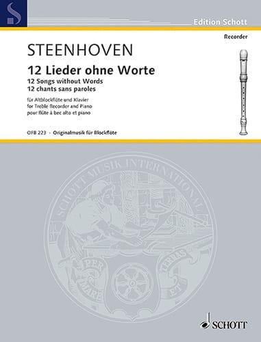 12 Chants sans Paroles - Karel Van Steenhoven - laflutedepan.com