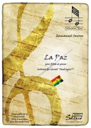 La Paz - Emmanuel Savoye - Partition - laflutedepan.com