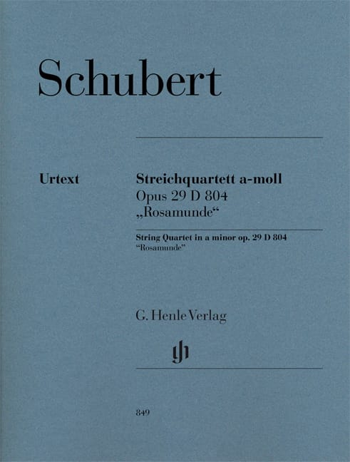 SCHUBERT - Rosamunde String Quartet - Separate Parts - Partition - di-arezzo.co.uk
