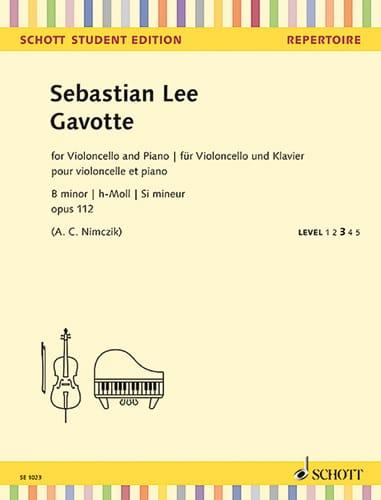 Sebastian Lee - Gavotte - Cello and Piano - Partition - di-arezzo.com